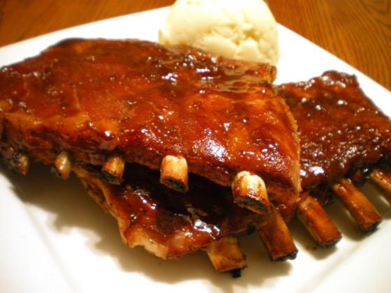 Oven Barbequed Spare Ribs