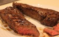 New York Strip Steak with Sauteed Spinach