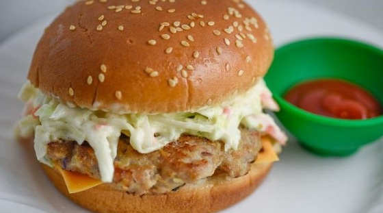 Pork Cheeseburger